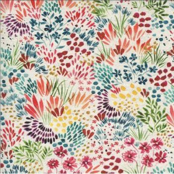 Moda - Moody Bloom by Create Joy Project - White, Small Flower 8444 11D