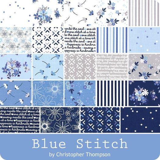 Riley Blake - Blue Stitch by Christopher Thompson