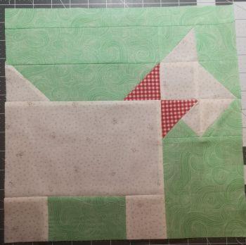 'Squat Dog' Patch block pattern  - digital download