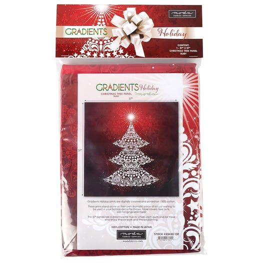 Moda Gradients Holiday- Red Christmas Tree - No Package