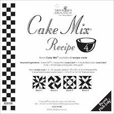 Miss Rosie's Quilt Co - CAke Mix Recipe 4 - perfect for layer cakes
