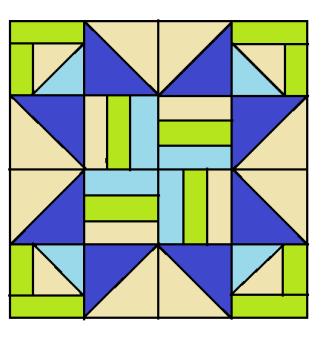 Gecko Star Quilt Block Pattern Digital Download