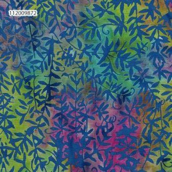 Island Batik 112009872-6/1061 Blue vines on Rainbow