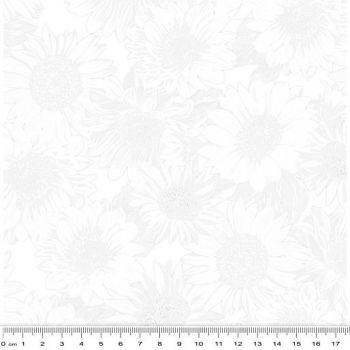 """Benartex - Sunflower Whisper White 09 - 108"""" wide"""