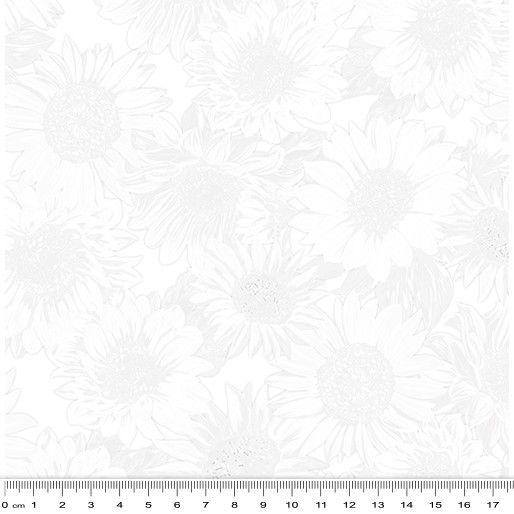 Benartex - Sunflower Whisper White 09 - 108