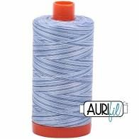 Aurifil 50wt Thread - Storm at Sea 4655 - blues and white variegated
