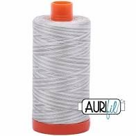 Aurifil 50wt Thread - Silver Moon 4060 - silver greys and white variegated