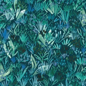 Sunshine Soul by create Joy for Moda teal foliage 8464 14