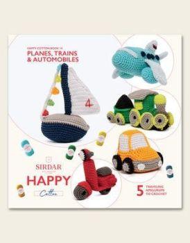 Sirdar Happy Chenille Book - Planes Trains & Automobiles book 14