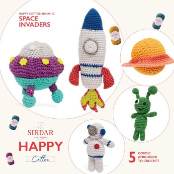 Sirdar Happy Chenille Book - space invaders book 12