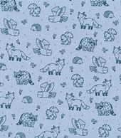 Riley Blake - Camp Woodland  - Blue background with Navy animals 10463SKY