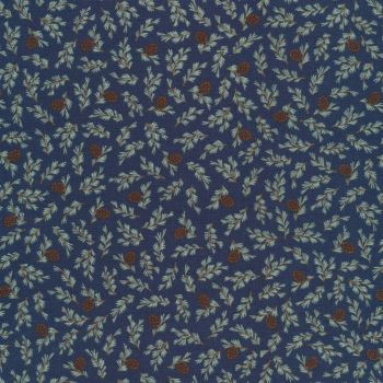 Riley Blake - Camp Woodland  - Navy background with Fir Cones 10464NAVY