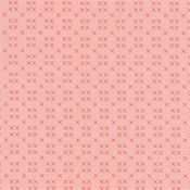 Riley Blake - Strawberry Honey - Pink background with red X pattern C10246