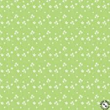 Riley Blake - Strawberry Honey - Spring Green background with floral