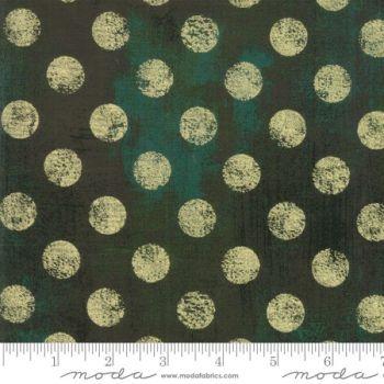 Job Lot  2m 10cm Moda Grunge Spots - Christmas Green
