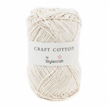 Stylecraft Craft Cotton - 100g White - perfect for bags & dishcloths