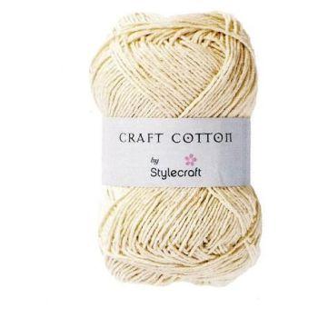 Stylecraft Craft Cotton - 100g Ecru - perfect for bags & dishcloths