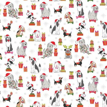 Yappy Dogs! Christmas - Scatter cream 2365/Q
