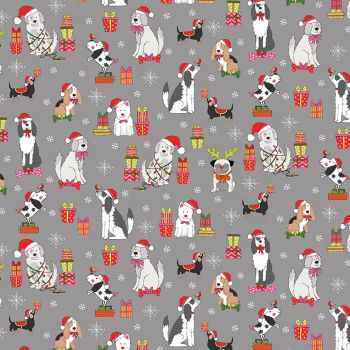 Yappy Dogs! Christmas - Scatter Grey 2365/S