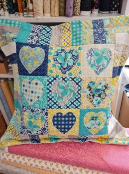 Country Heart Cushion Pattern - digital download only