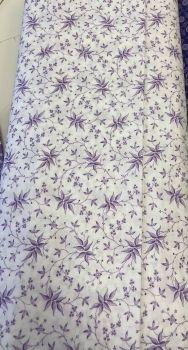 Benartex - Lavender Fields by Jan Shore - Elise Leaves Purple/White 06834 63