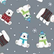 Kanvas Studio - Snow Place Like Home - Polar Bear Express C9866 (silver)