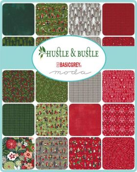 ****New In!*** Hustle & Bustle Christmas- Moda Jelly Roll