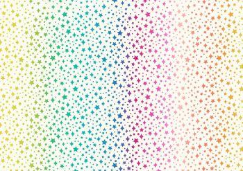 Lewis & Irene Over the rainbow White with rainbow stars