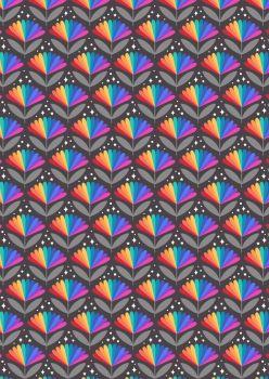 Lewis & Irene Over the rainbow Rainbow Flowers on black