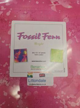 Benartex  Fossil Fern Brights Layer Cake