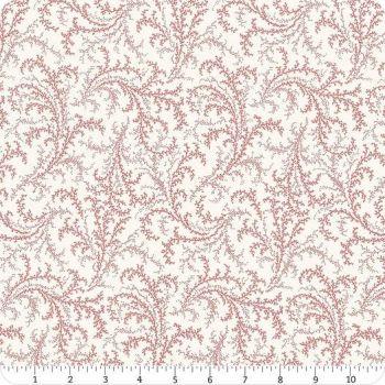 Cranberries & Cream Red fern on cream  44263 13