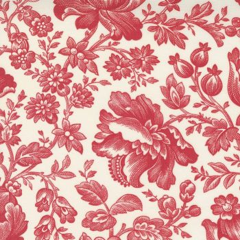 Cranberries & Cream Red floral on cream  44260 13
