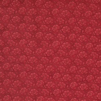 Cranberries & Cream red on Red small floral 44265 16