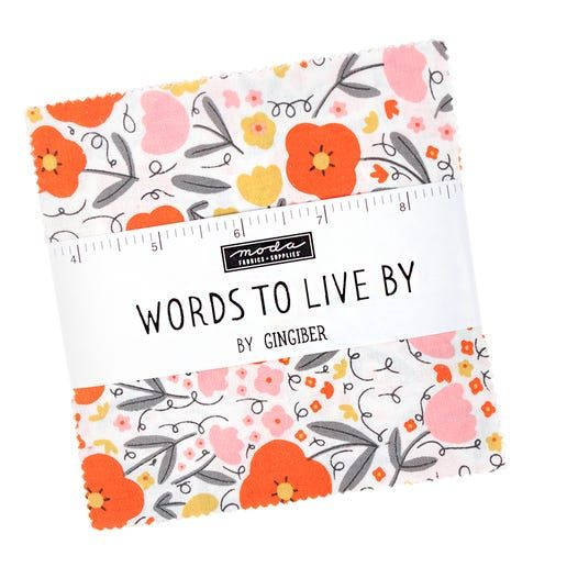 Words to Live By Moda Charm Pack