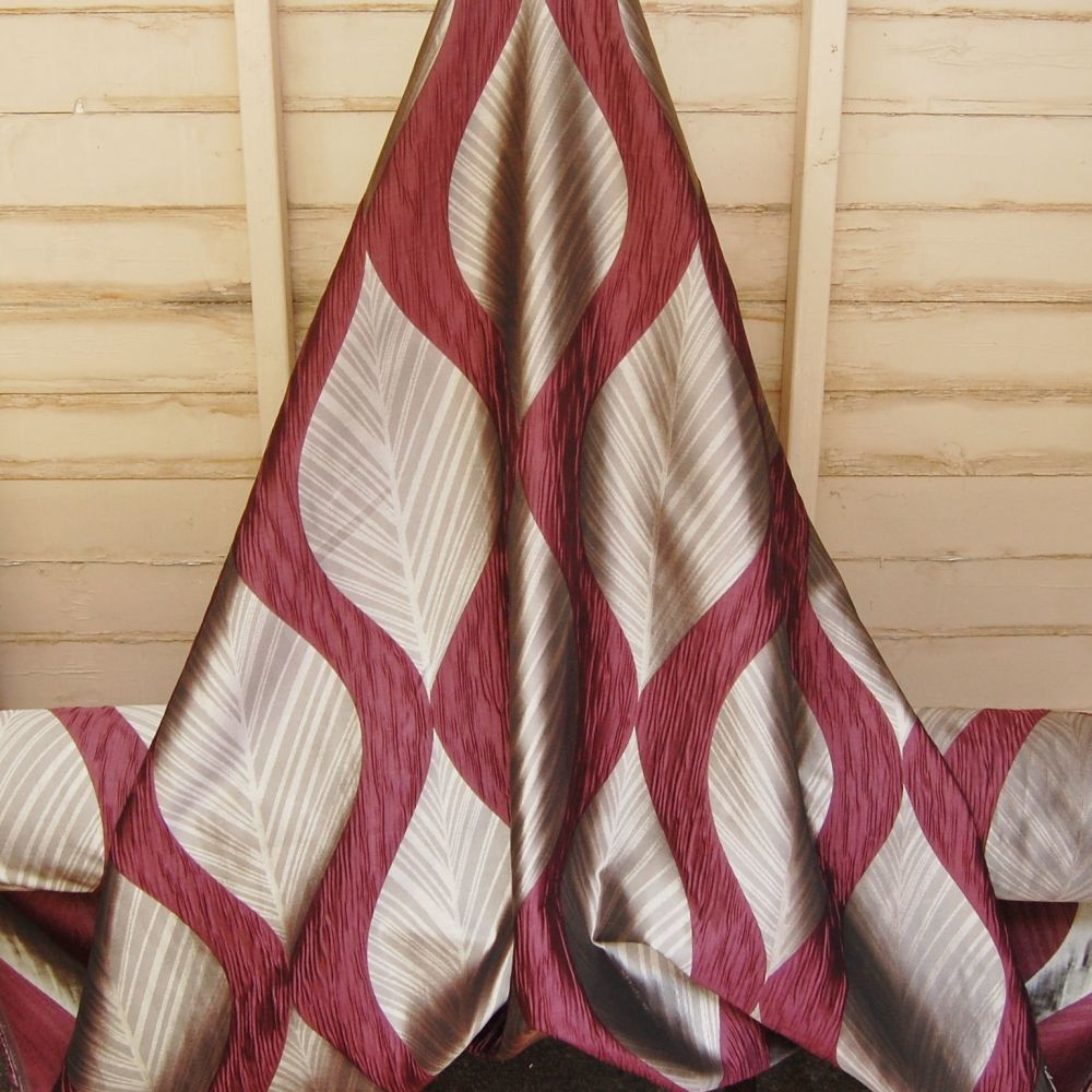 ELDERBERRY FANCY WEAVE CURTAIN FABRIC BY ASHLEY WILDE FROM THE BOTINIA RANG
