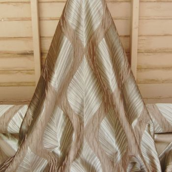 FANCY WEAVE CURTAIN FABRIC BY ASHLEY WILDE FROM THE BOTINIA RANGE IN 'LINEN' COLOUR 704C
