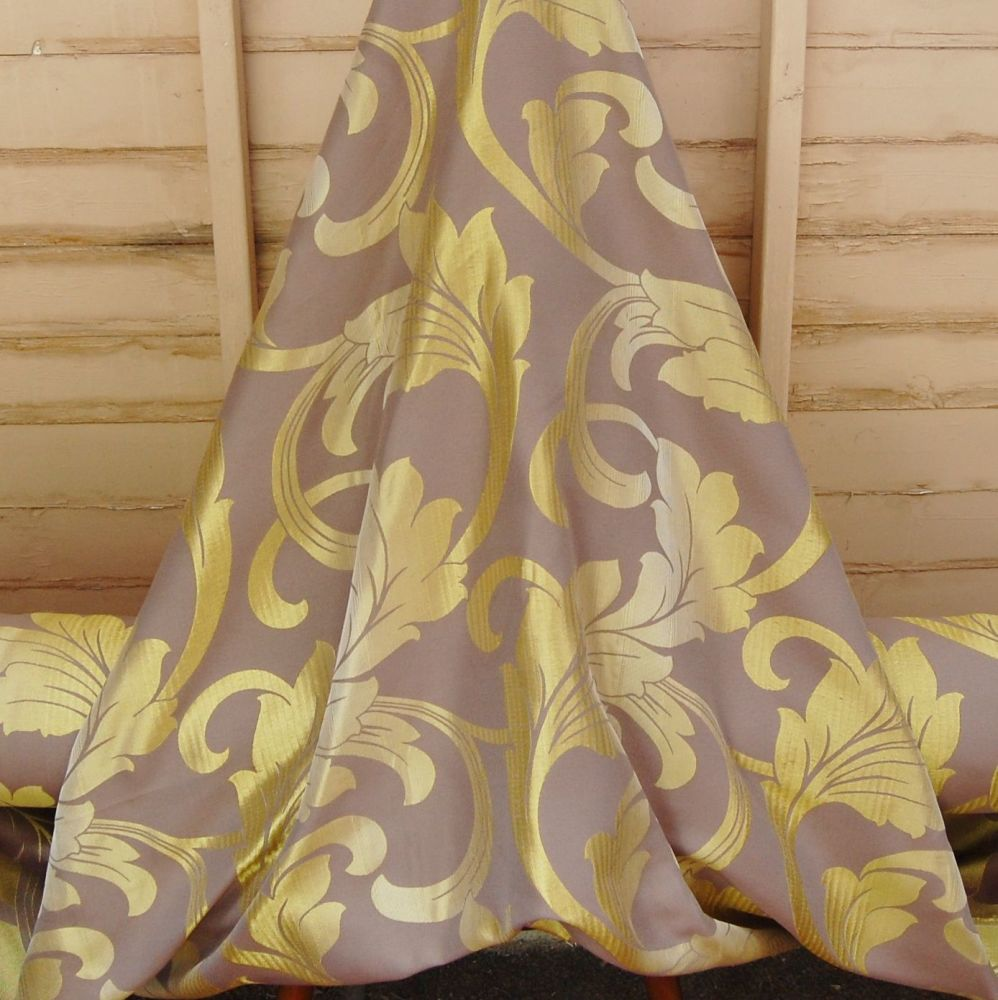 TRADITIONAL WOVEN FLORAL CURTAIN FABRIC 714C