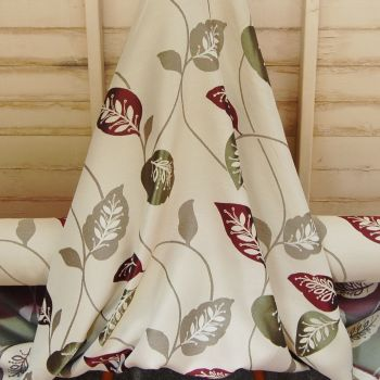MODERN WOVEN COTTON MIX WITH LEAF PATTERN 718C