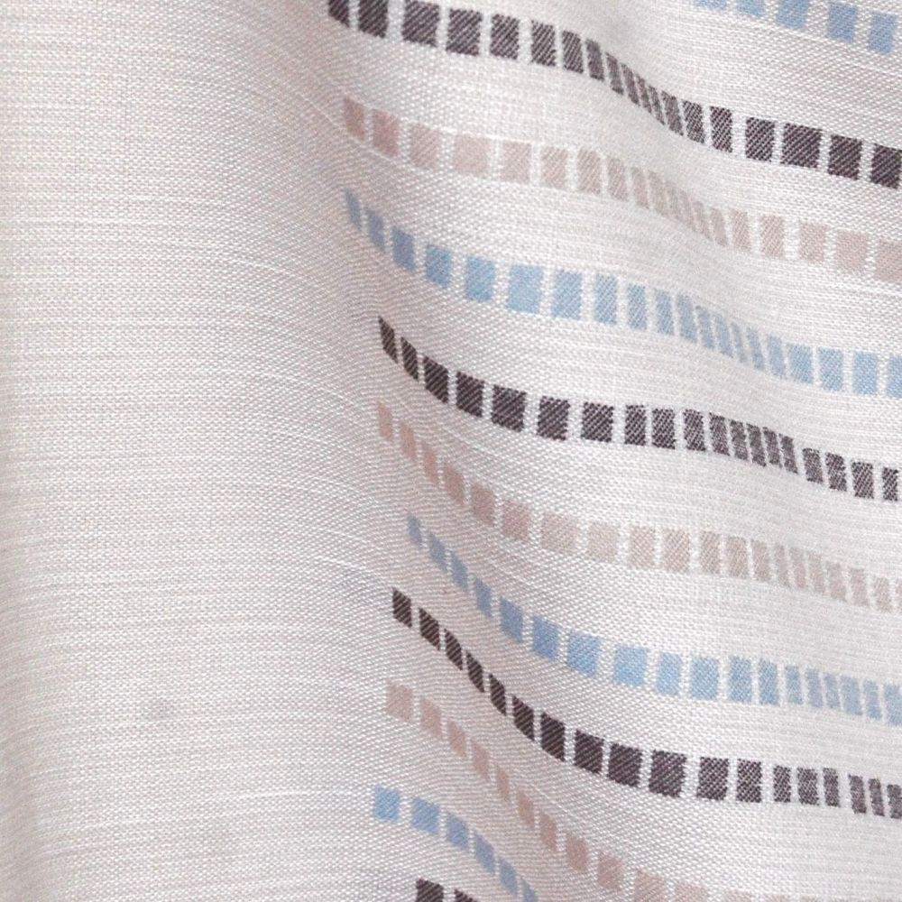 NATURAL COTTON WEAVE WITH STRIPE DETAILING FOR CURTAINS. WS06