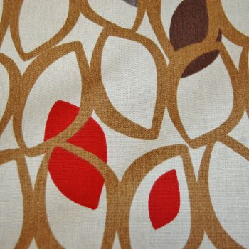 PRESTIGIOUS CEDAR IN RED BERRY 100% COTTON FOR CURTAINS & SOFT FURNISHINGS