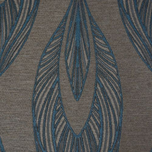 7 Metre End Roll Silver And Teal Silky Mix Curtain Fabric