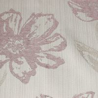 CAPIRO BLUSH PINK AND CREAM WOVEN FLORAL FOR CURTAINS AND SOFT FURNISHINGS