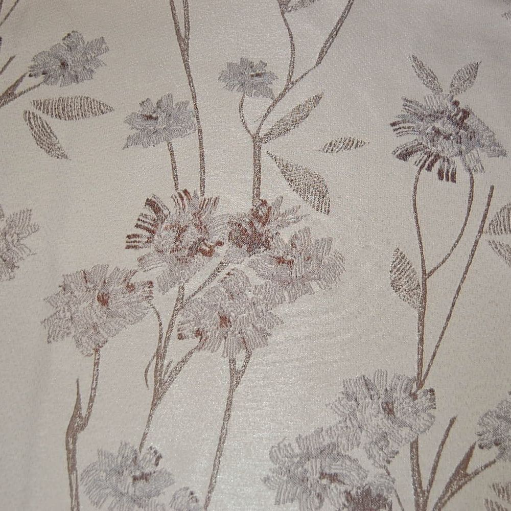 CHIVAGO CREAM & AUTUMNAL TONES WOVEN FLORAL FOR CURTAINS AND SOFT FURNISHIN
