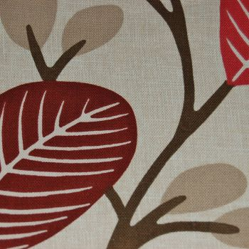 PORTER & STONE AUTUMN LEAVES 'ROSSI' 100% COTTON FOR CURTAINS & SOFT FURNISHINGS