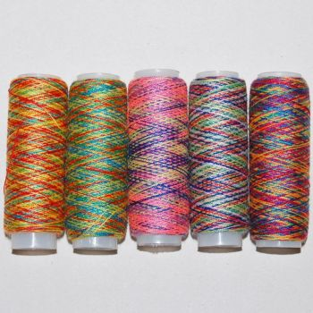 PACK OF 5 RAINBOW SEWING THREADS.