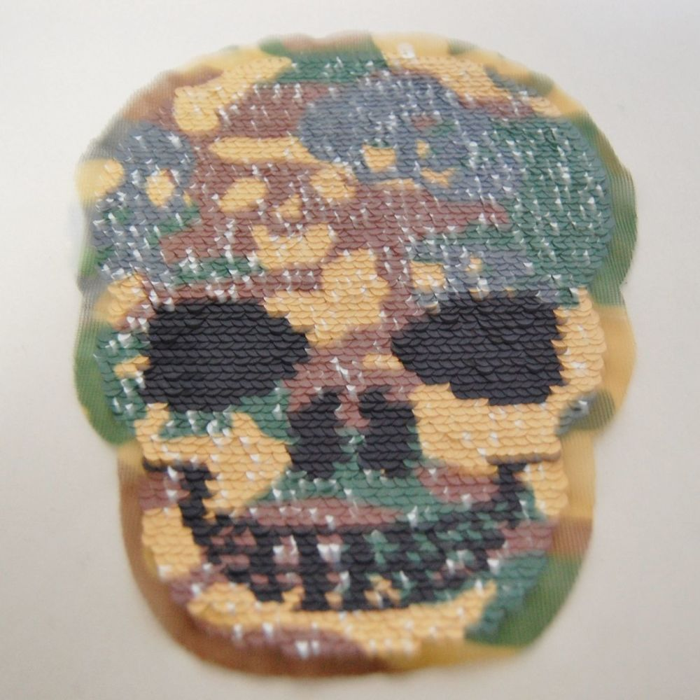 SEQUINED SKULL EMBELLISHMENT, SEW ON.