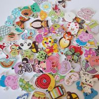 MIXED PACK OF 50 KIDS EMBELLISHMENTS, 2 HOLE.