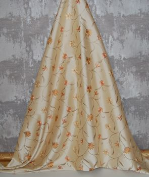 *ROLL END 1.8 METRES* EMBROIDERED FAUX SILK DESIGN 2