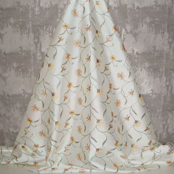 *ROLL END 1.8 METRES* EMBROIDERED FAUX SILK DESIGN 4