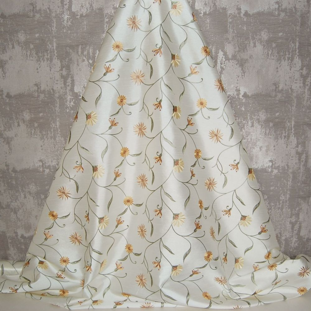 *ROLL END 2.9 METRES* EMBROIDERED FAUX SILK DESIGN 4